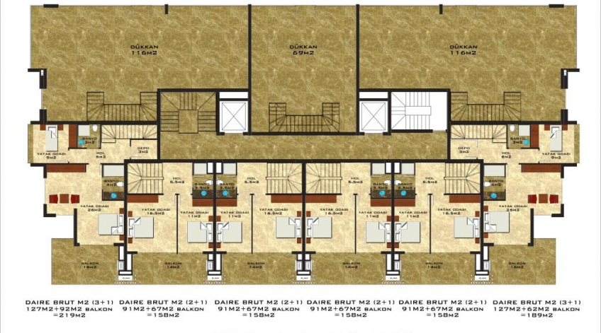 Vesta Star Upper floor of ground floor duplex